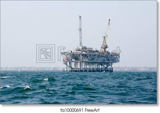 "Poster Print /""Offshore Oil Rig/"""