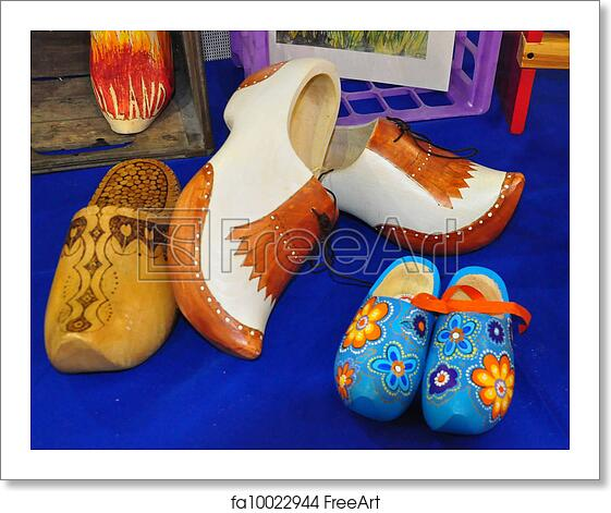 Free Art Print Of Painted Wooden Shoes