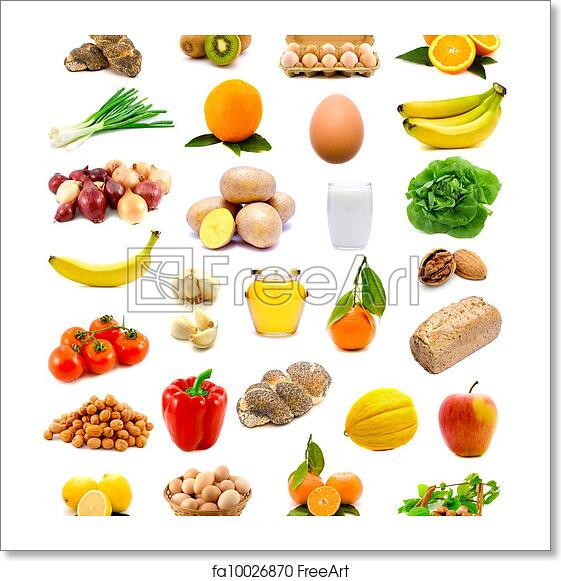 Free art print of Healthy food. Group of healthy food with ...