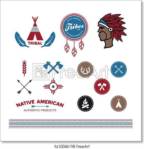976646fcf Free art print of Native tribal designs. Set of native American ...