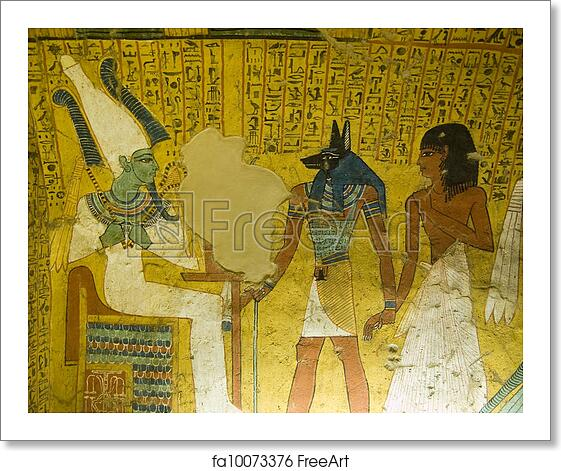 Free art print of tomb painting from ancient egypt the for Ancient egyptian tomb decoration