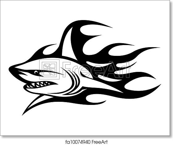 Free Art Print Of Angry Shark Tattoo