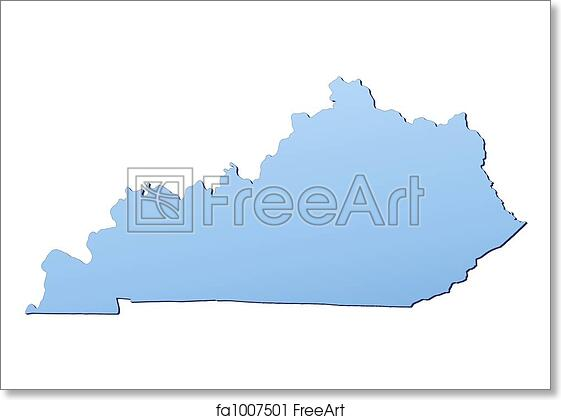 Kentucky On Usa Map.Free Art Print Of Kentucky Usa Map Kentucky Usa Map Filled With