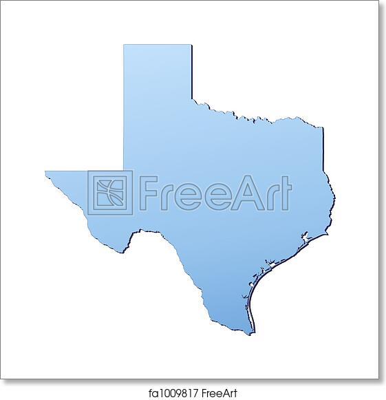 Map Of Texas Usa.Free Art Print Of Texas Usa Map Texas Usa Map Filled With Light