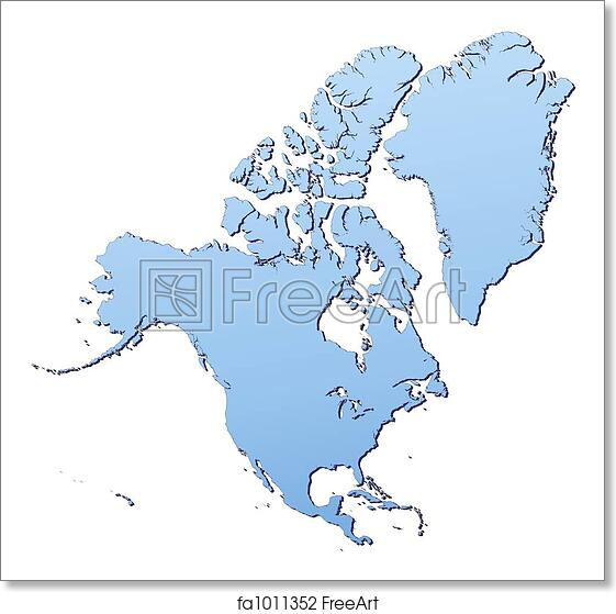 Free North America Map.Free Art Print Of North America Map North America Map Filled With