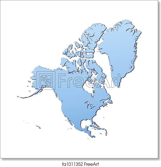 Free North America Map.Free Art Print Of North America Map North America Map Filled With