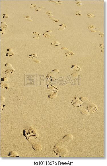 image relating to Footprints in the Sand Printable called Cost-free artwork print of Footprints inside of the sand