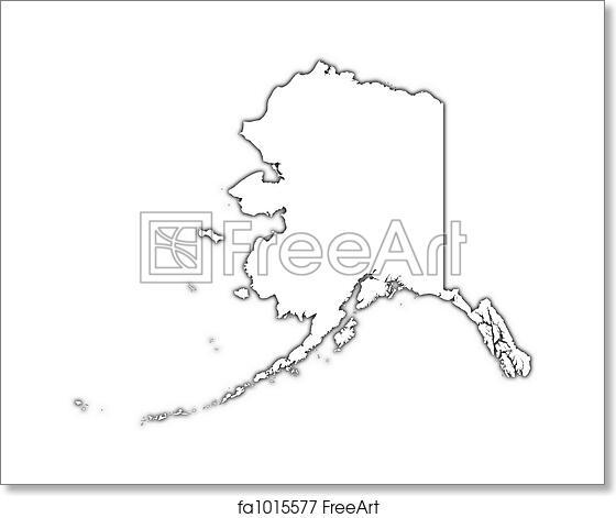Free art print of Alaska (USA) outline map. Alaska (USA) outline map ...