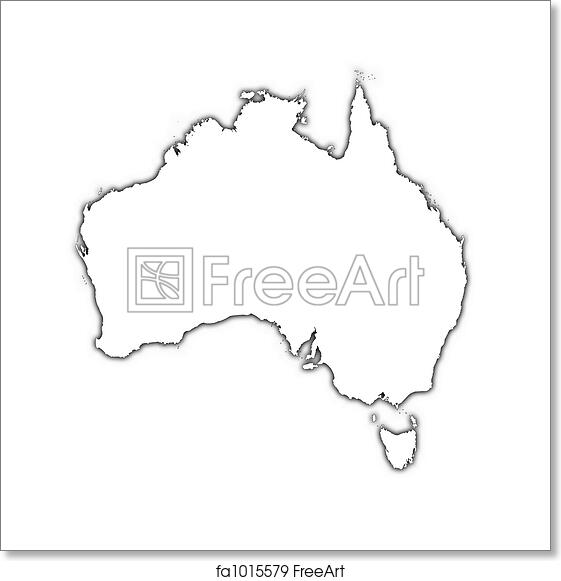 Outline Map Of Australia.Free Art Print Of Australia Outline Map Australia Outline Map With