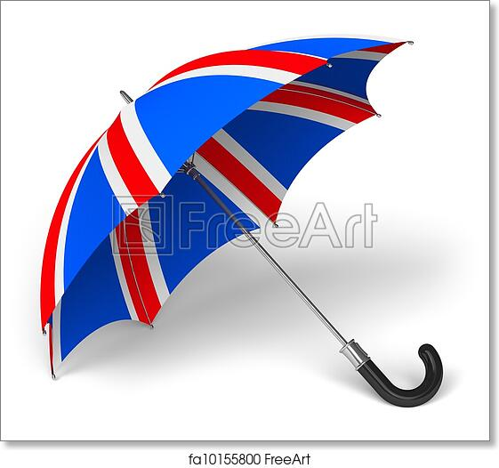 image regarding Printable British Flag named No cost artwork print of Umbrella with British flag