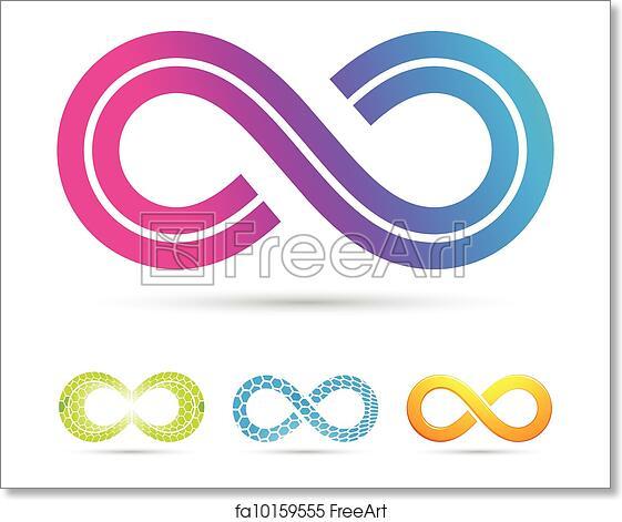 Free Art Print Of Retro Style Infinity Symbol Vector Illustration