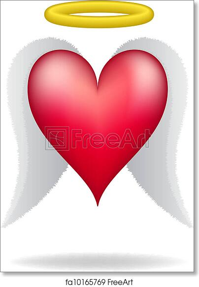 Free Art Print Of Heart With Wings And Halo Heart With Wings And