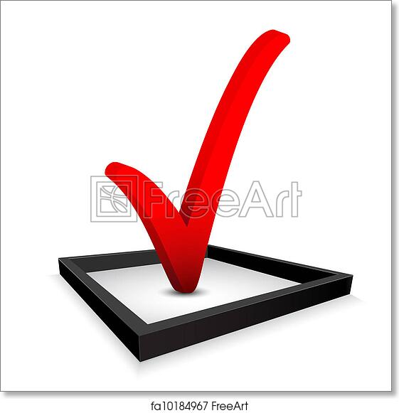 Free Art Print Of Check Mark Red Check Mark In Option Box Vector