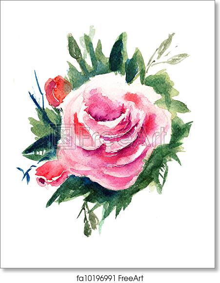 Free art print of roses flowers watercolor painting freeart free art print of roses flowers watercolor painting mightylinksfo