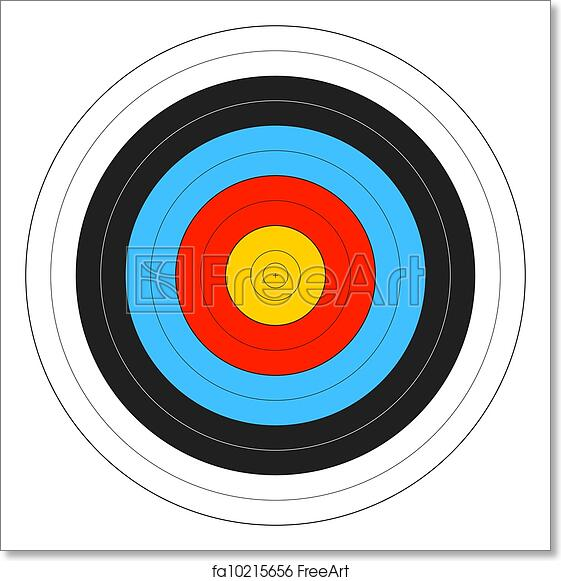 photograph relating to Printable Archery Targets named Absolutely free artwork print of Archery Aim