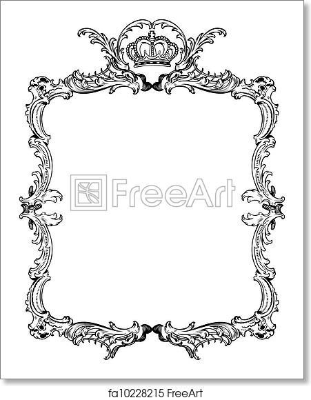 Free art print of Decorative Vintage Ornate Frame. Vector ...