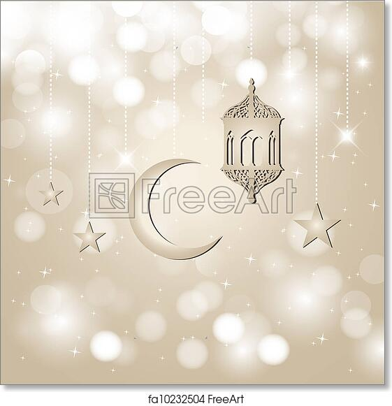 graphic about Ramadan Cards Printable identify Totally free artwork print of Ramadan Kareem - Eid Mubarak