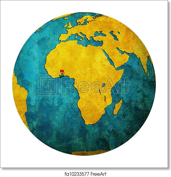 Free art print of Ghana flag on globe map Ghana On Map on mauritania on map, nepal on map, guatemala on map, west africa map, borneo on map, egypt on map, belize on map, mali on map, madagascar on map, liberia on map, hungary on map, brazil on map, cuba on map, benin on map, zimbabwe on map, italy on map, indonesia on map, the gambia on map, nigeria on map, thailand on map,