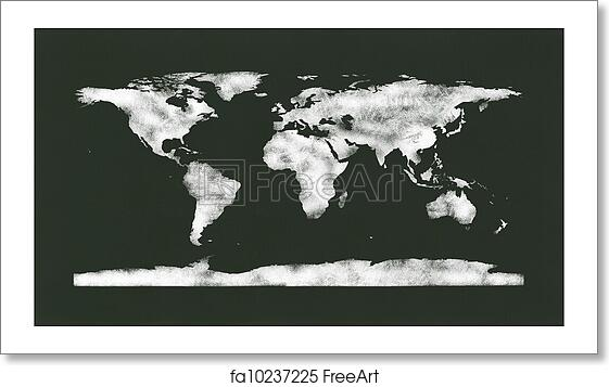 Free Art Print Of Chalkboard Chalk World Map Chalkboard With A