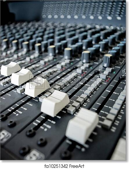 Free art print of Audio Engineer Mixing Board