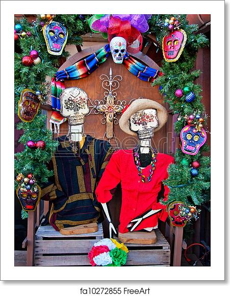 Mexican Christmas.Free Art Print Of Mexican Christmas Dead Decorations Old San Diego Town California
