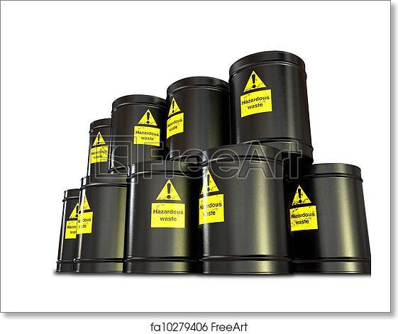 Free art print of Hazardous Waste Barrel Stack
