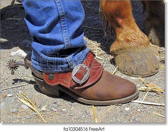 Free art print of Boots, Spurs, Horse\u0027s Hooves