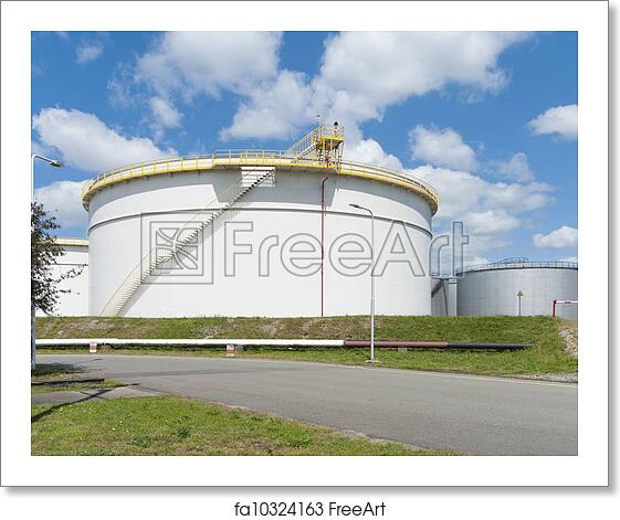Free art print of Oil storage tanks