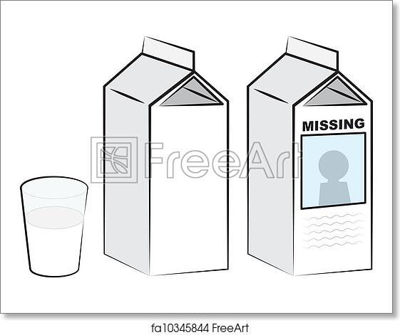 Free Art Print Of Milk Cartons