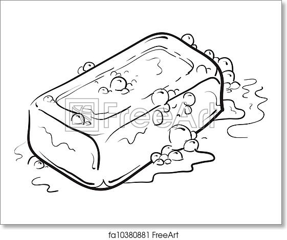 Free art print of bar of soap sketch doodle style soap for Disegnare bagno 3d gratis
