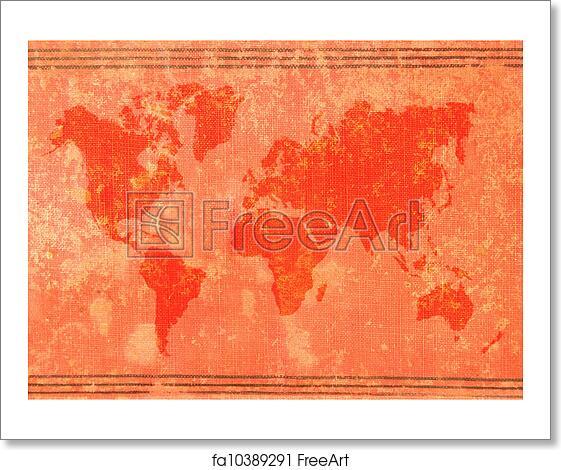 Free art print of Old world map | FreeArt | fa10389291