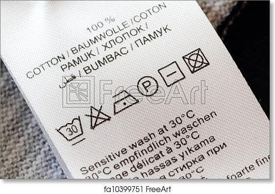 Free art print of Laundry care label