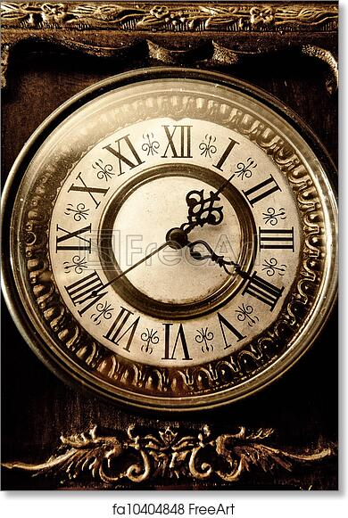 Free art print of Old antique clock