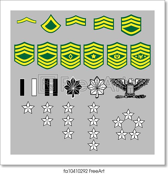 Free Art Print Of Us Army Rank Insignia Us Army Rank Insignia For