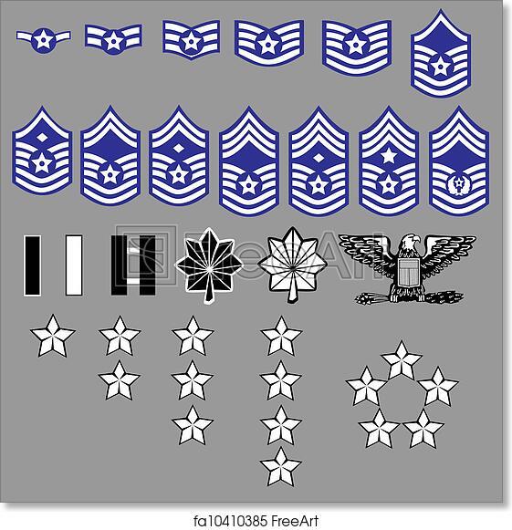 Free art print of US Air Force rank insignia