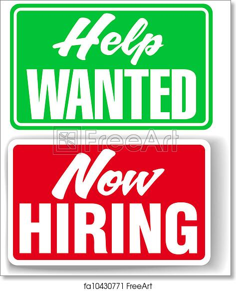 photo relating to Now Hiring Sign Printable identify Cost-free artwork print of At present Using the services of Guidance Preferred business enterprise symptoms