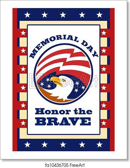 free art print of american eagle memorial day poster greeting card