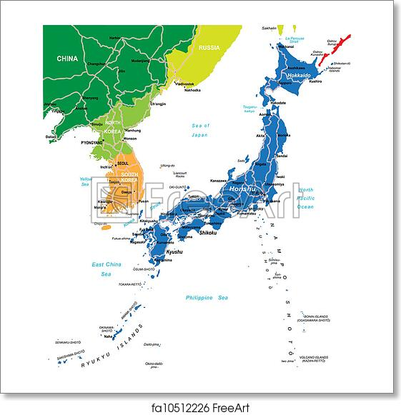 Free Art Print Of Japan Map Highly Detailed Vector Map Of Japan