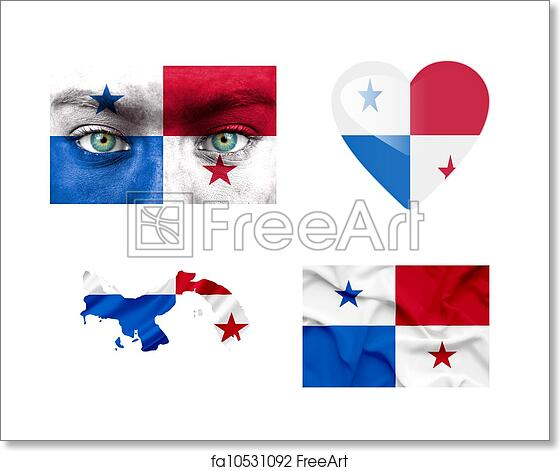 Free Art Print Of Set Of Various Panama Flags FreeArt Fa - Panama flags