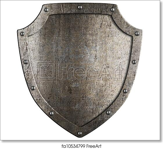 Free art print of Old metal medieval shield. Crest template ...