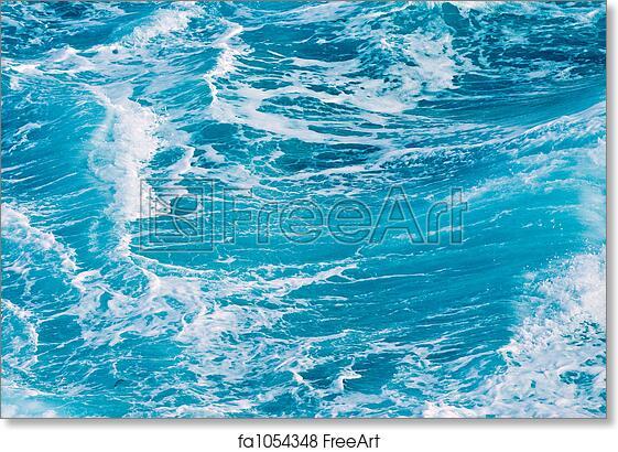 free art print of ocean waves background of ocean waves in the
