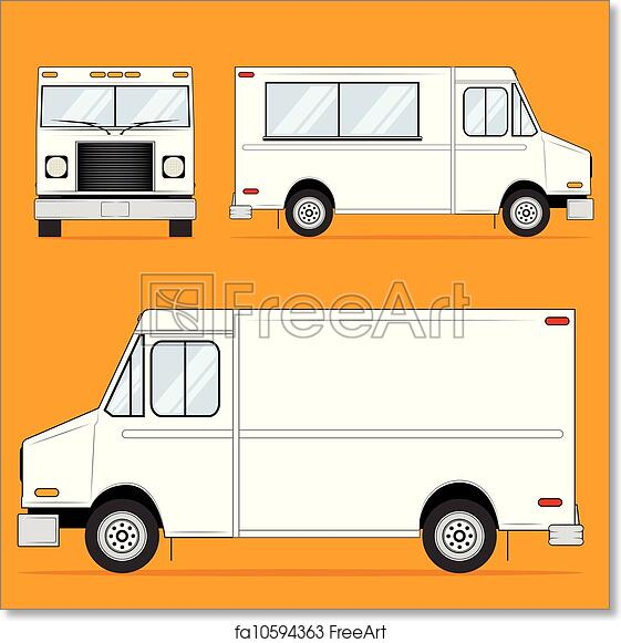 Free art print of food truck blank template illustration of a free art print of food truck blank pronofoot35fo Images
