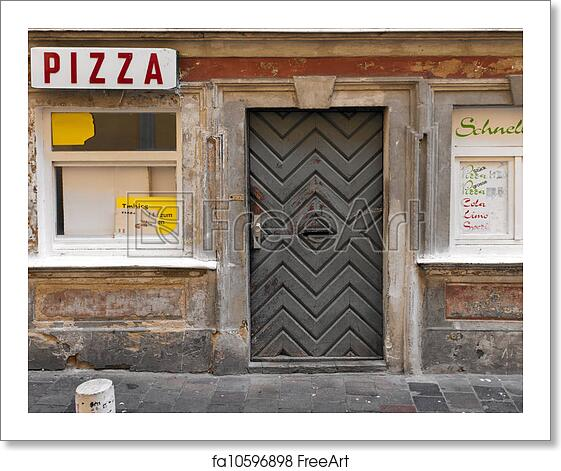 Free Art Print Of Abandoned Pizzeria. Old Worn Pizzeria