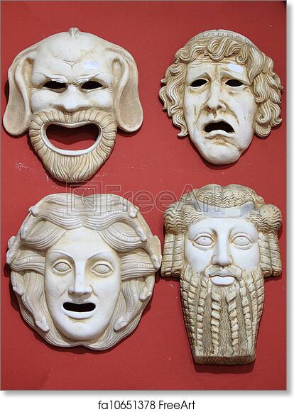 Free art print of Ancient Greece theatre masks