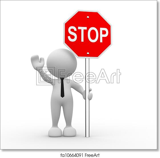 graphic regarding Printable Stop Sign known as Totally free artwork print of Conclusion signal