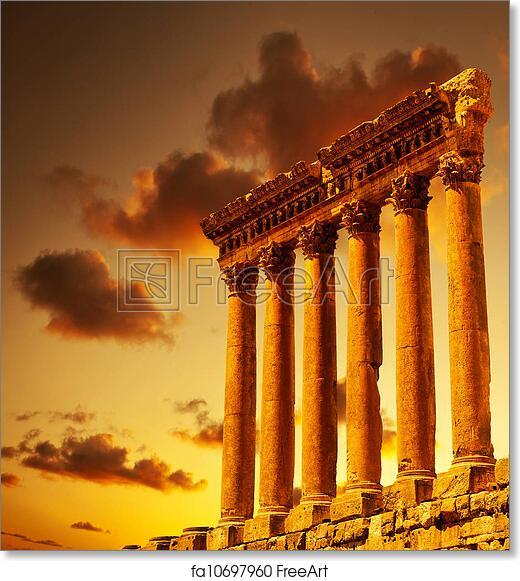 Free art print of Column ruins