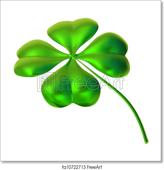 Free Art Print Of Four Leaf Clover As Symbol Good Luck