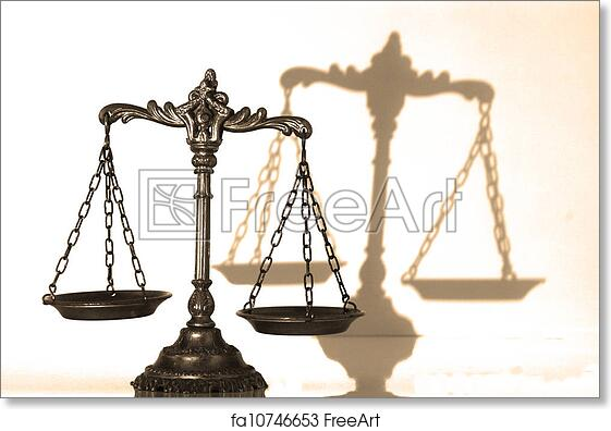 Free Art Print Of Decorative Scales Of Justice Symbol Of Law And
