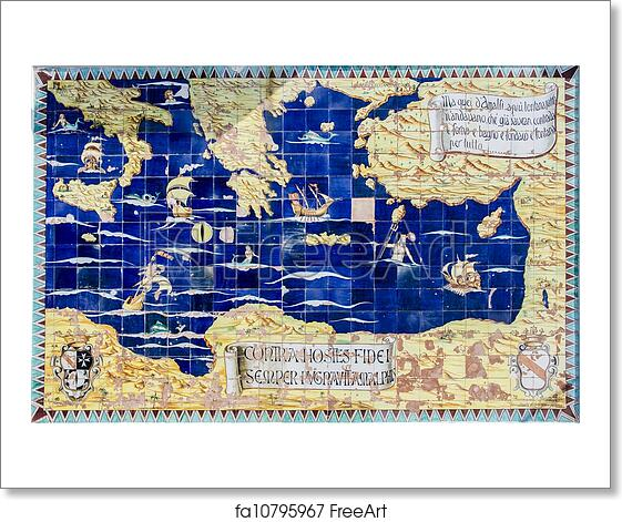 Free art print of Ancient map of Mediterranean