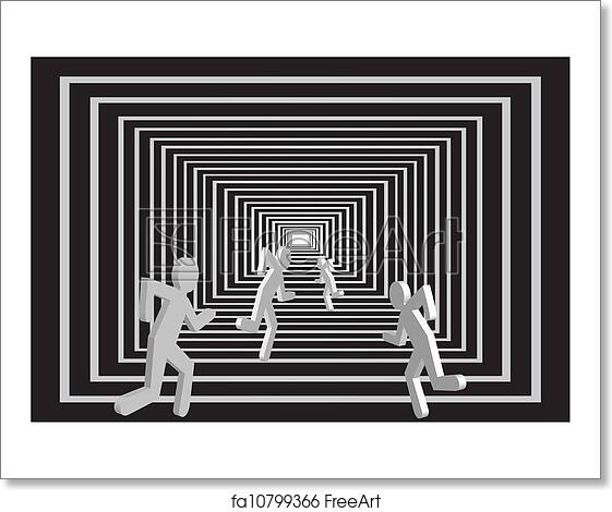 Free Art Print Of Men In The Tunnel People Competition Running